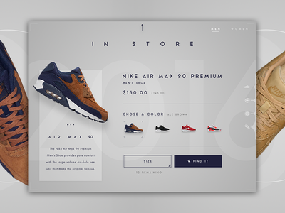 Nike App Concept - Card shoes shoe cards card sneakers in-store wip store 90 air max air nike