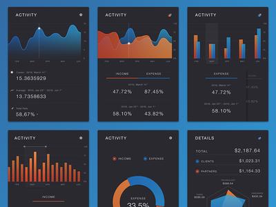 Free PSD - Charts kit