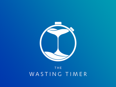 Logo - The Wasting Timer - Chrome Extension app extension chrome chronometer stopwatch hourglass sandglass time wasting timer logos logo