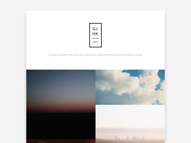 Free 2 Column Portfolio Site free web design minimal bootstrap responsive gallery invite dribbble invites download clean
