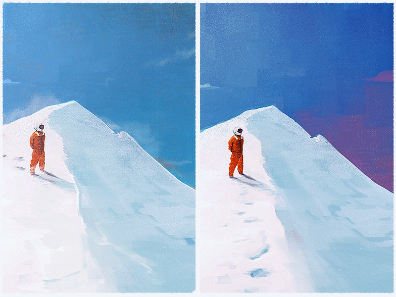 Which one? snow space photoshop texture concept digital painting