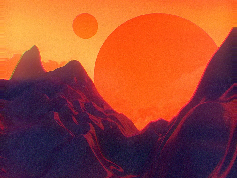 Planetary Practice planets texture noise futurist retro 4d cinema c4d