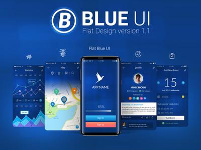 Blue Flat Ui