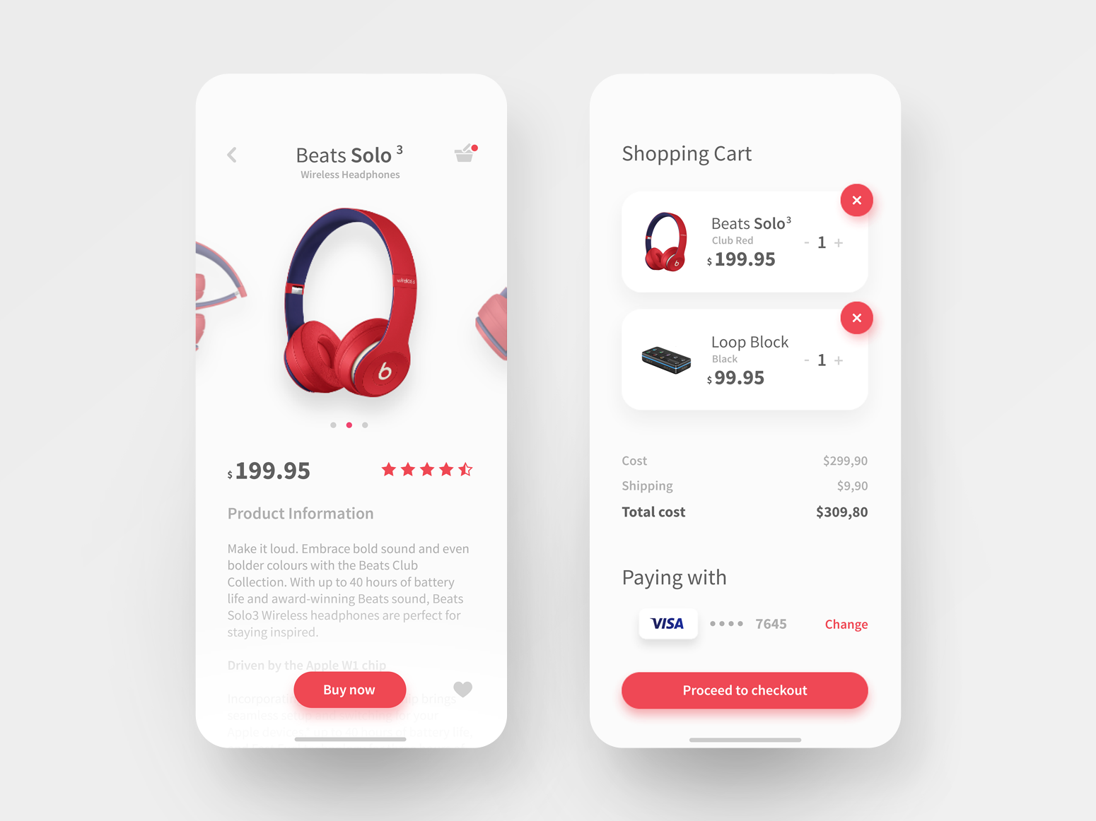 Shopping App Design branding ux minimal web design application ui design ux design ui ui  ux app
