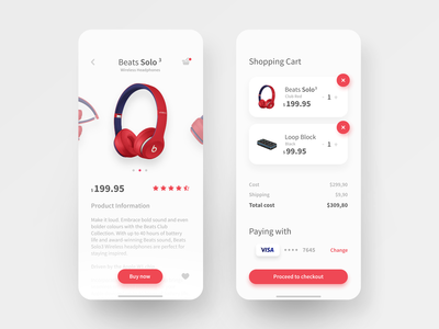 Shopping App Design