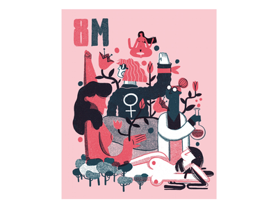 8m omán editorial illustration editorial womansday poster illustration