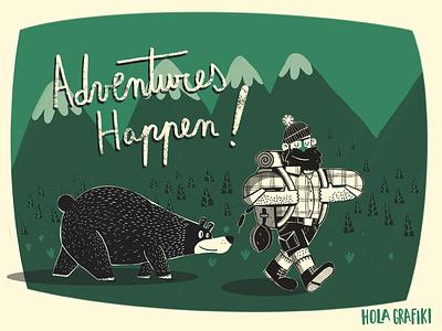 Adventures happen editorial procreate character design ilustración illustration