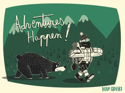 Adventures happen