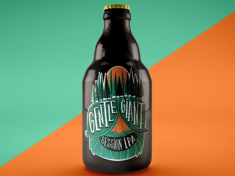 Gente giant veer producto illustration producto design beber label label illustration beber