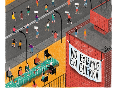 No estamos en guerra press comission digital color article magazine ilustración illustration editorial