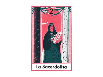 The high priestess ilustracion tarot editorial illustration