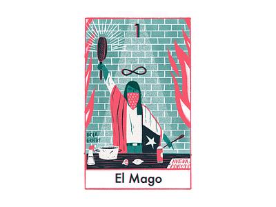 The magician digital illustration editorial color tarot ilustración illustration