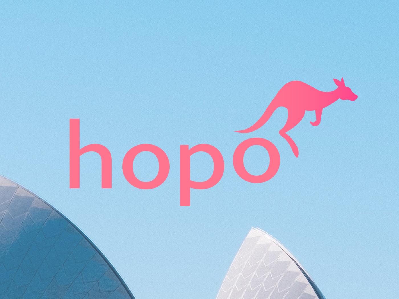 Daily Logo Challenge: Day 19 hopo kangaroo design graphic design identity branding logo dailylogo dailylogochallenge