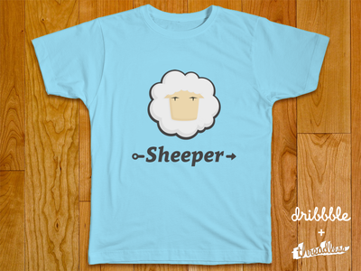 Sheeper—be a shepherd of your code threadless t-shirt dribbble playoff sheep shipper design logo logotype clavo no long shadows