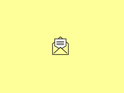 Newsletter icon newsletter icon yellow white line