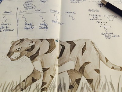 Moleskine concepts in the wild wild ink moleskin illustration drawing tiger
