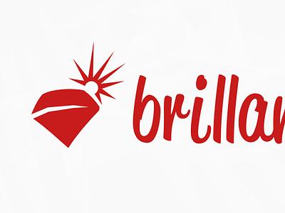 brillante logotype logo gem vector