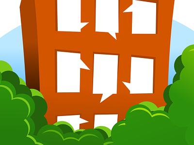 Apartment community logotype logo dialog apartment