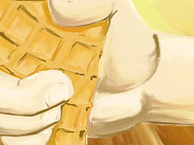 Consuming the Earth ecology waffle icecream earth abstract illustration