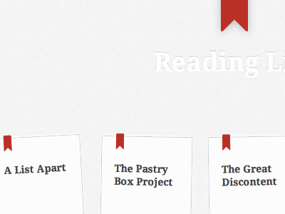 Reading List typography html css reading bookmark icons