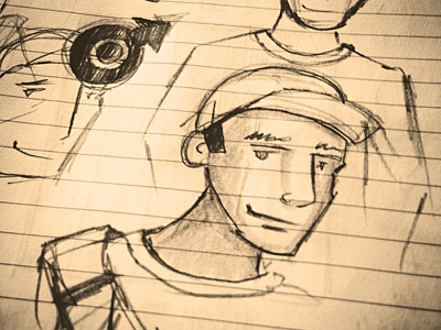 Drawing in the wild sketch illustration character vintage pencil indian ink guy male drawing moleskine