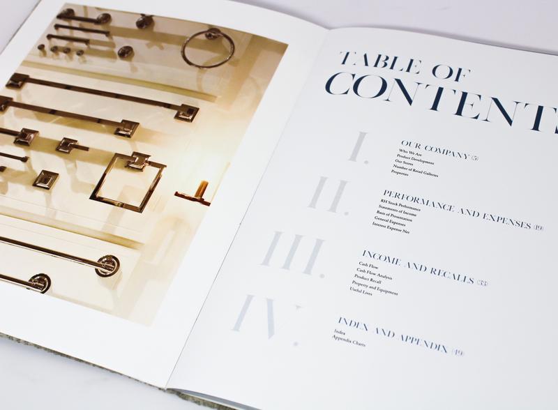 Restoration Hardware Annual Report layoutdesign publication annualreport