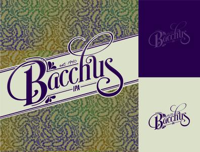 Bacchus Beer Logo branding illustrator mardigras logo beer packaging