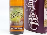 Close Up of Bacchus Beer Label