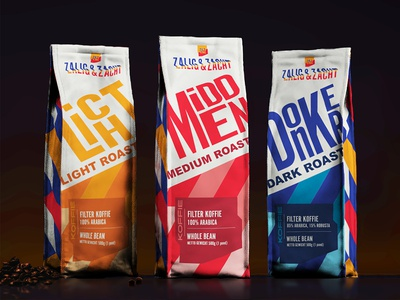Zalig & Zacht Packaging packaging thenetherlands dutchdesign branding coffee packaging