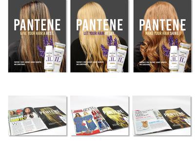 """Magazine Ads // """"Pantene"""" photography magazine ad design"""