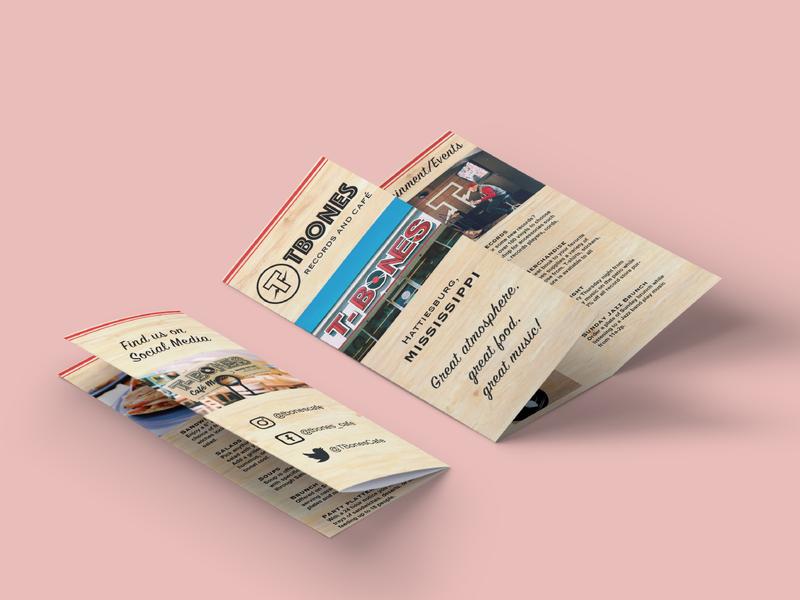 """Brochure // """"TBONES"""" café local design brochure mockup brochure"""