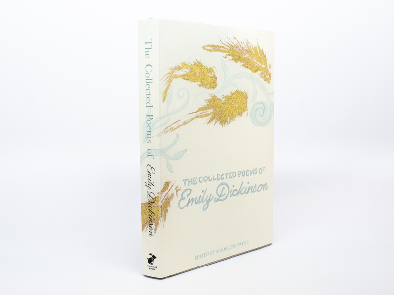 Emily Dickinson Book Cover goldleaf watercolor design bookcover