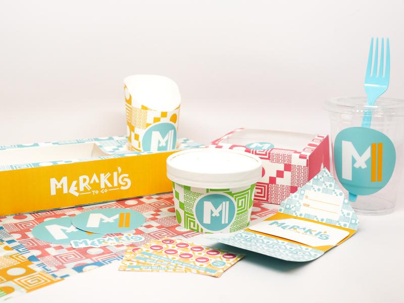 Food Truck Packaging packagingdesign patterns bright design greekfood packaging foodtruck
