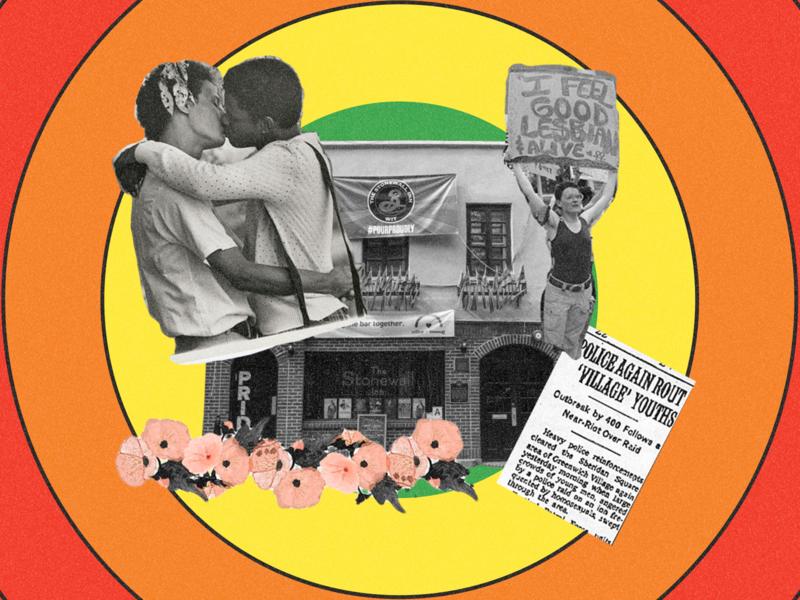 🏳️🌈Pride celebration design queer collage art collage