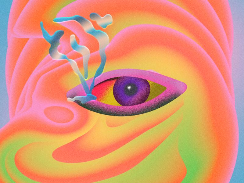 Smoke tears 👁 illustration eyes collage art surealism collage