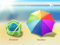 Browser&Weather Icon