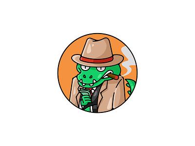 Crocodeal 💵 mascot character cartoon funny illustration logo