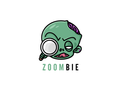 Zoombie 🧟 illustration. funny acute logo cartoon logo designer zoombie