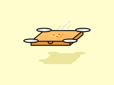 Fastest pizza delivery 🍕 delivery cartoon company food illustration food logo drone pizza logo pizza