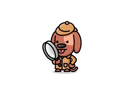 Dogtective 🔎 cute logo dog illustration dog logo logo design logo designer detective animal
