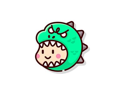 Goodzila 👍🦖 funny cute illustration icon sticker logo