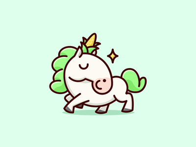 Unicorn 🦄🌽 unicon illustration logo cute funny