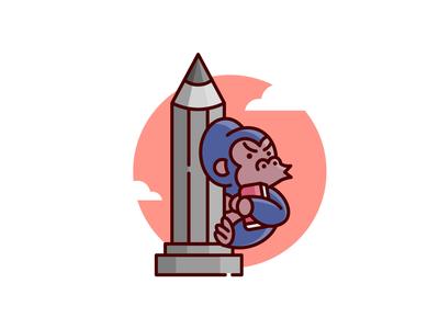 Kong 🦍 cartoon illustration designer logo gorilla kong