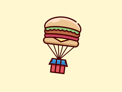 BurgerDrop 🍔 airdrop creative funny branding identity brand vector cartoon mascot character illustration logo business junk food fresh food burger