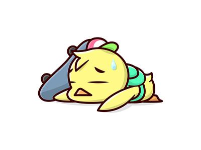 Bad Day Chicken 🐥 kids child student school skateboard cartoon character idendity branding logo illustration design vector wild life animal chicken
