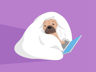 Current mood 💻 mood hobby illustrator illustrationdaily dailyvector vectorart dogillustration petsillustration illustrationvector illustration