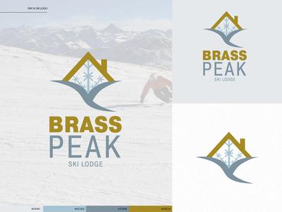 Day 8: Ski Logo icon type vector logo illustrator branding design typography illustration logo design dailylogochallenge daily logo challenge
