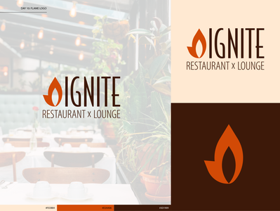 Day 10: Flame Logo restaurant logo type logo design typography illustration daily logo challenge branding design illustrator logo dailylogochallenge