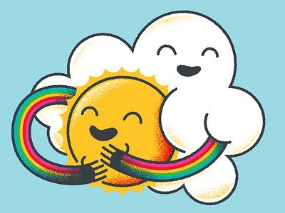HUGS Threadless Shirt Design cute adobe illustrator design illustrator adobe illustraion cloud rainbow threadless