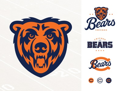Bears Logo Redesign bear logo adobe illustrator design vector logo branding sports design sports logo chicago chicago bears